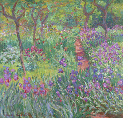 Painting - The Artist's Garden In Giverny by Claude Monet