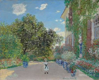 Doorsteps Painting - The Artist's House At Argenteuil by Claude Monet