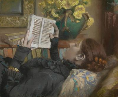 The Artist's Wife Reading Art Print