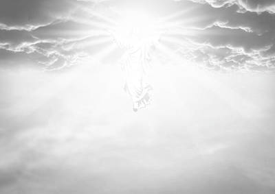 Holy Digital Art - The Ascension And Resurrection by Allan Swart