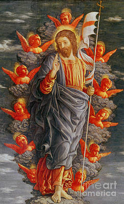 Cherub Painting - The Ascension by Andrea Mantegna