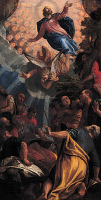 Ascension Painting - The Ascension by Paolo Veronese