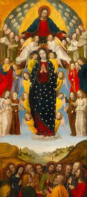 Painting - The Assumption Of The Virgin by Bergognone