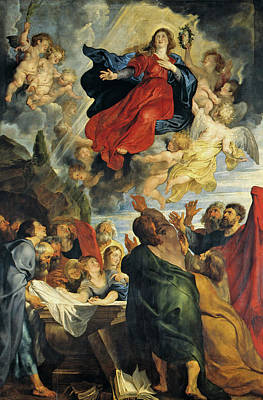 Ascension Painting - The Assumption Of The Virgin Mary by Peter Paul Rubens