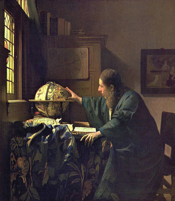 Painting - The Astronomer by Jan Vermeer