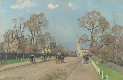 The Avenue Sydenham Art Print by Camille Pissarro