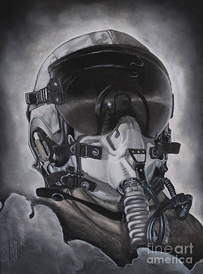 Aviators Drawing - The Aviator by Joe Dragt