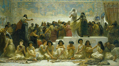 Painting - The Babylonian Marriage Market by Edwin Long