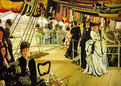 1874 Digital Art - The Ball On Shipboard  by James Tissot