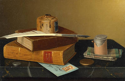 Painting - The Banker's Table by William Michael Harnett