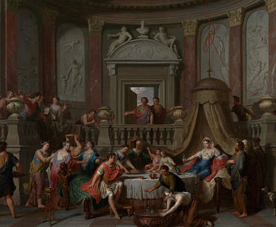 Painting - The Banquet Of Cleopatra by Gerard Hoet