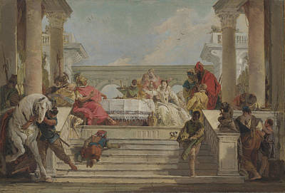 Painting - The Banquet Of Cleopatra  by Treasury Classics Art