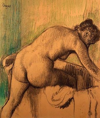 Edgar Degas Wall Art - Drawing - The Bath by Edgar Degas