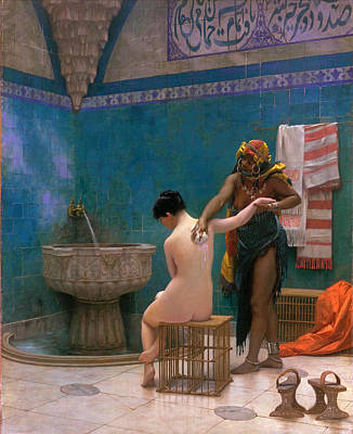 Jean-leon Gerome Painting - The Bath by Jean-Leon Gerome