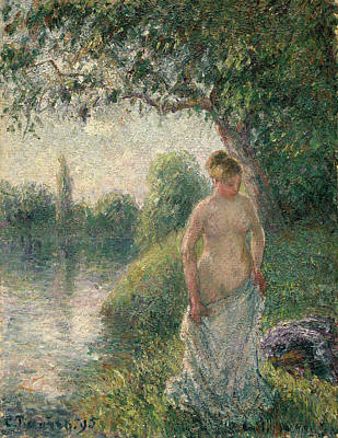 Camille Pissarro Painting - The Bather by Camille Pissarro