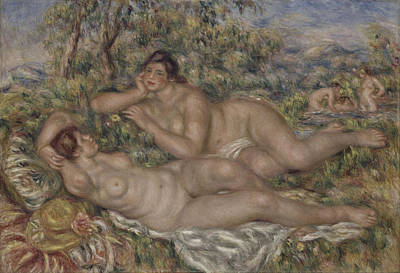 Painting - The Bathers by Auguste Renoir