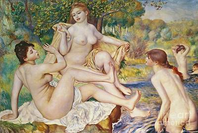 Naked Painting - The Bathers by Pierre Auguste Renoir