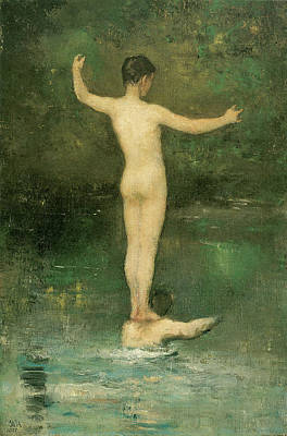 Photograph - The Bathers by William Morris Hunt