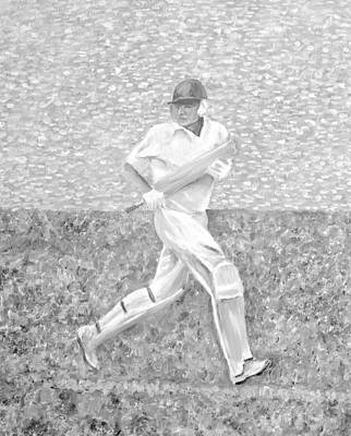 Mixed Media - The Batsman by Elizabeth Lock