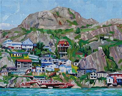 Neighbourhoods Painting - The Battery by Phil Chadwick