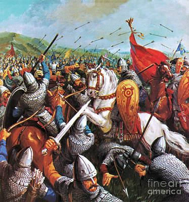 Hastings Painting - The Battle Of Hastings by English School