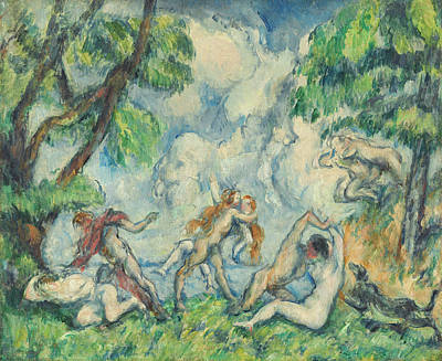 Painting - The Battle Of Love by Paul Cezanne