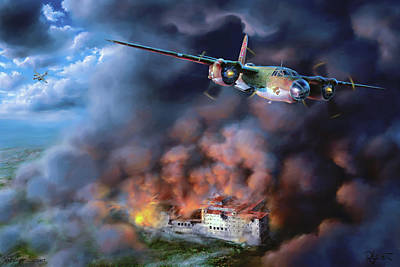 Digital Art - The Battle Of Monte Cassino by Dave Luebbert