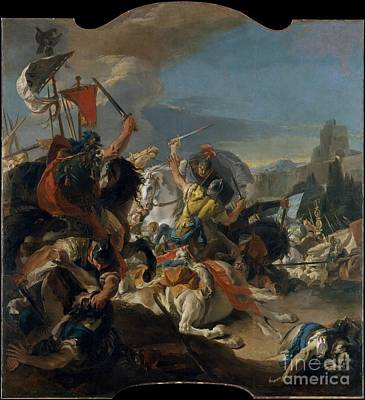 Giovanni Battista Tiepolo Painting - The Battle Of Vercellae  by Celestial Images