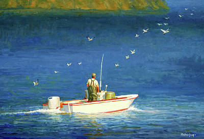 Painting - The Bayman by Mel Greifinger