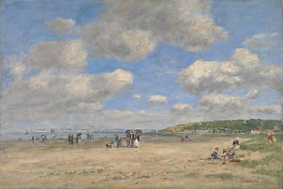 The Beach At Tourgeville Les Sablons Art Print