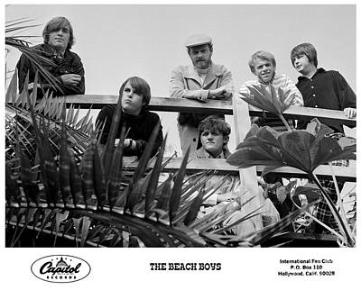 Jardine Photograph - The Beach Boys 1966 by The Titanic Project