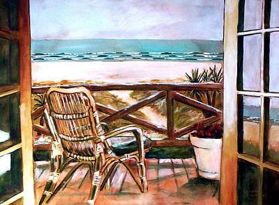 Painting - The Beach Chair by Winsome Gunning