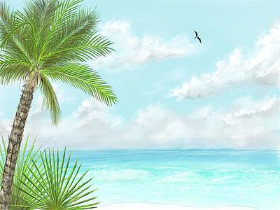 Art Print featuring the digital art The Beach by Darren Cannell