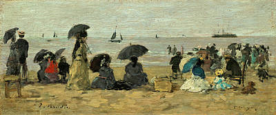 Painting - The Beach by Eugene Boudin