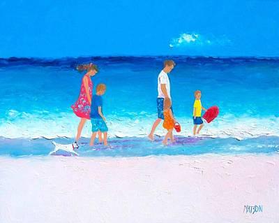 The Beach Holiday Art Print