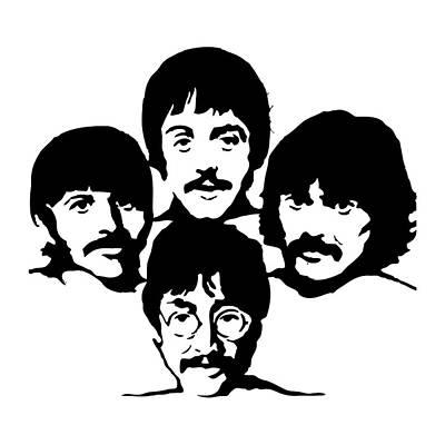 Illusttation Digital Art - The Beatles by Caio Caldas