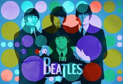 Vinyl Record Digital Art - The Beatles by Dan Sproul