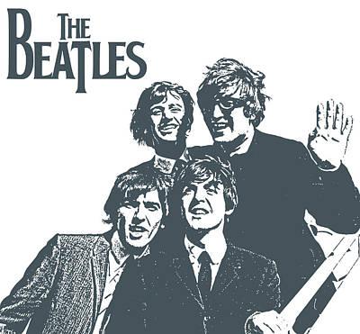 John Digital Art - The Beatles by Unknown