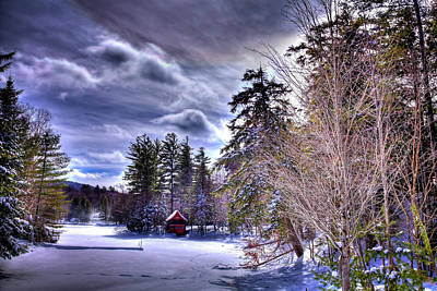 Snowy Brook Photograph - The Beaver Brook Boathouse by David Patterson
