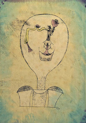The Beginnings Of A Smile Art Print by Paul Klee