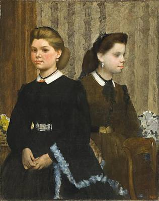 Degas Painting - The Bellelli Sisters by Celestial Images