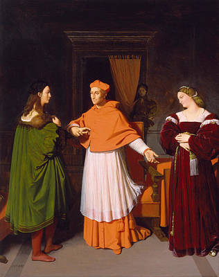 Marriage Painting - The Betrothal Of Raphael And The Niece Of Cardinal Bibbiena by Jean-Auguste-Dominique Ingres