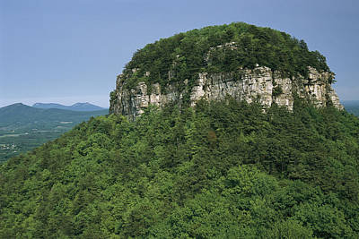 Forests And Forestry Photograph - The Big Pinnacle Of Pilot Mountain. The by Raymond Gehman
