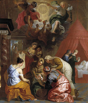 Painting - The Birth Of The Virgin by Erasmus Quellinus II