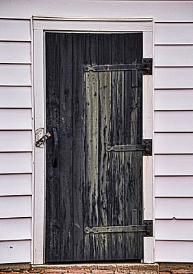 Photograph - The Black Door by Linda Brown