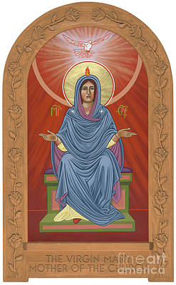 Painting - The Blessed Virgin Mary Mother Of The Church by William Hart McNichols