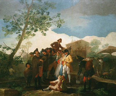 Spanish Painting - The Blind Guitarrist by Francisco Goya
