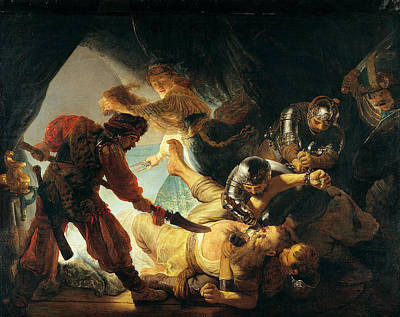 Old Painting - The Blinding Of Samson by Rembrandt van Rijn