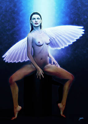 Digital Art - The Blue Angel by Joaquin Abella