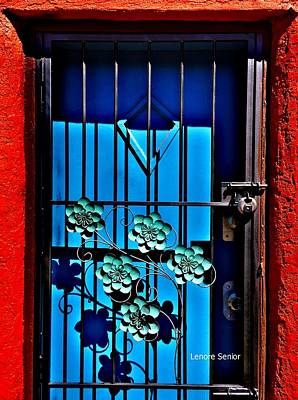Photograph - The Blue Door by Lenore Senior